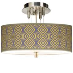"Deco Revival Giclee 14"" Wide Ceiling Light"