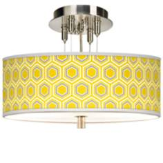 "Honeycomb Giclee 14"" Wide Ceiling Light"