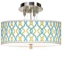 "Hyper Links Giclee 14"" Wide Ceiling Light"