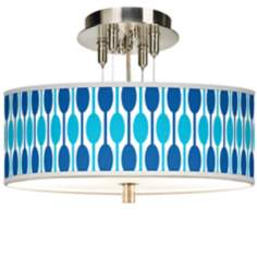 "Jet Set Giclee 14"" Wide Ceiling Light"