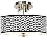 "Black Diamonds Giclee 14"" Wide Ceiling Light"