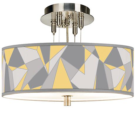 "Modern Mosaic II Giclee 14"" Wide Ceiling Light"