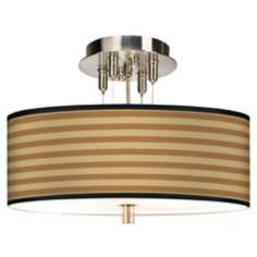 "Butterscotch Parallels Giclee 14"" Wide Ceiling Light"