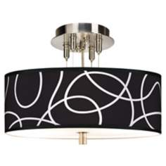 "Abstract Giclee 14"" Wide Ceiling Light"
