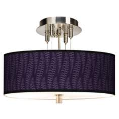"Stacy Garcia Fancy Fern Rich Plum 14"" Wide Ceiling Light"