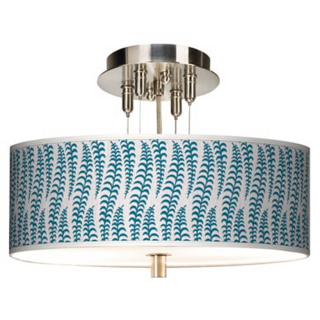 "Stacy Garcia Fancy Fern Peacock 14"" Wide Ceiling Light"