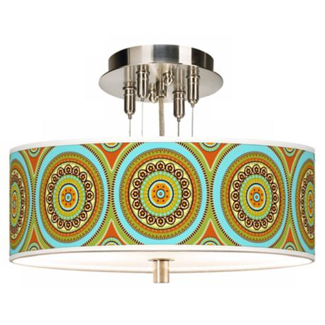 "Stacy Garcia Arno Mosaic Daybreak 14"" Wide Ceiling Light"