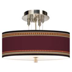 "Stacy Garcia Ebro Garnet Giclee 14"" Wide Ceiling Light"