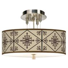 "Chambly Giclee 14"" Wide Ceiling Light"