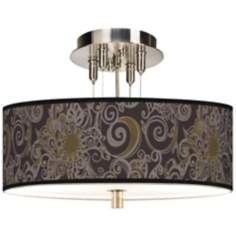 "Stacy Garcia Ornament Metal Giclee 14"" Wide Ceiling Light"