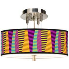 "Mambo Giclee 14"" Wide Ceiling Light"