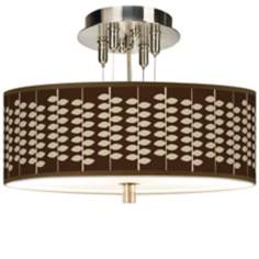 "Hi Fi Giclee 14"" Wide Ceiling Light"