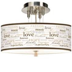 "Positivity Giclee 14"" Wide Ceiling Light"