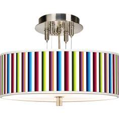 "Technocolors Giclee 14"" Wide Ceiling Light"