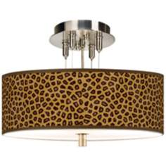 "Safari Cheetah Giclee 14"" Wide Ceiling Light"
