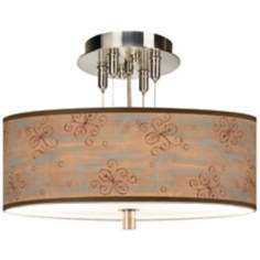 "Cedar Lake Giclee 14"" Wide Semi-Flushmount Ceiling Light"