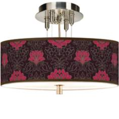 "Stacy Garcia Florentia Wild Berry 14"" Wide Ceiling Light"