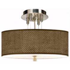"Interweave Pattern 14"" Wide Semi-Flushmount Ceiling Light"