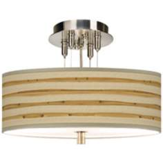 "Bamboo Wrap 14"" Wide Semi-Flushmount Ceiling Light"