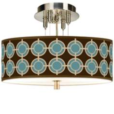"Stacy Garcia Porthole Giclee 14"" Wide Ceiling Light"