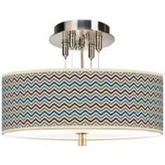 "Zig Zag Giclee 14"" Wide Ceiling Light"