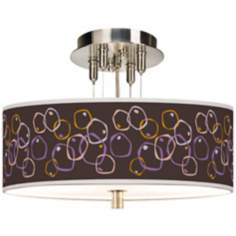 "Linger Giclee 14"" Wide Ceiling Light"