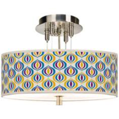 "Scatter Giclee 14"" Wide Ceiling Light"