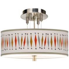 "Tremble Giclee 14"" Wide Ceiling Light"