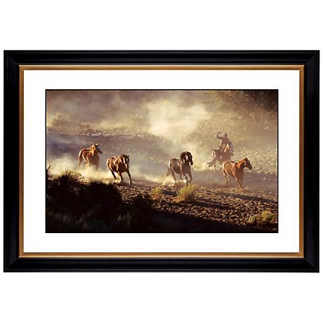 "Dusty Round Up Giclee 41 3/8"" Wide Wall Art"