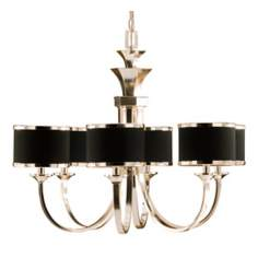"Uttermost Tuxedo Collection 31"" Wide Large Black Chandelier"