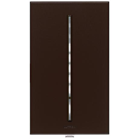 Lutron Vierti White LED 600 Watt Single Pole Brown Dimmer