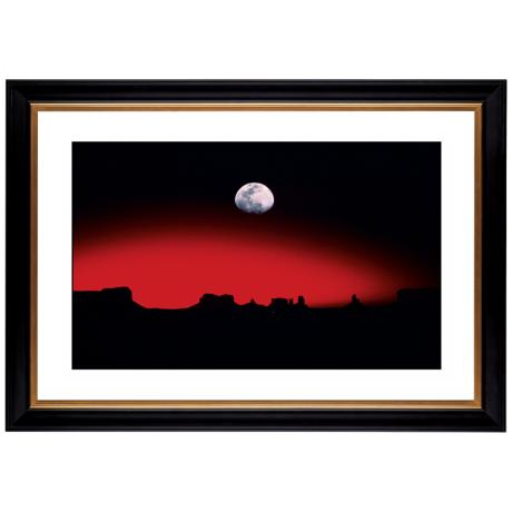 "Moonrise Over Desert Giclee 41 3/8"" Wide Wall Art"