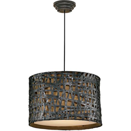 Alita Rust Black Pendant Chandelier