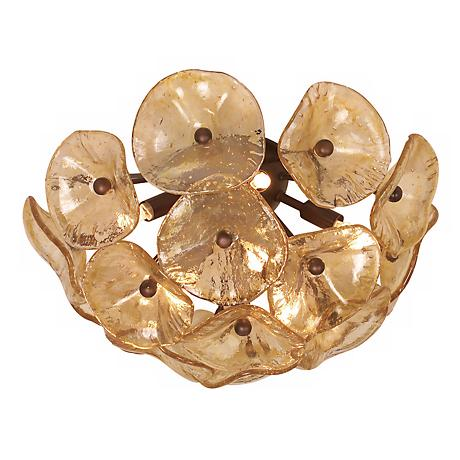 "Cassini Collection Bronze 16 1/2"" Wide Ceiling Light Fixture"