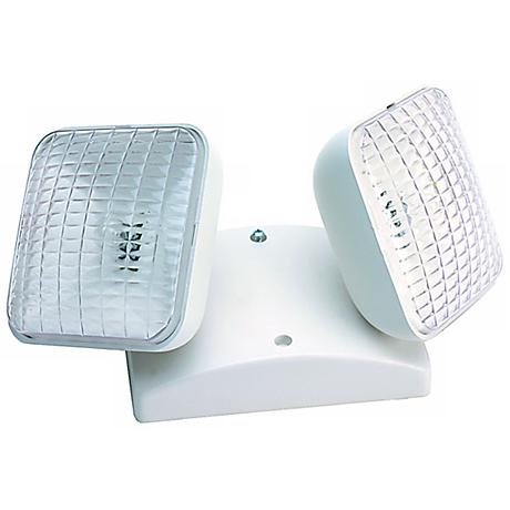 Dual Square Head Indoor 5.4 Watt Remote Emergency Light