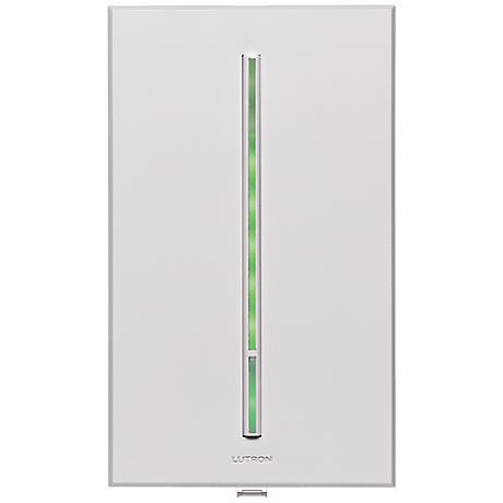 Lutron Vierti 600 Watt Green LED Multilocation White Dimmer