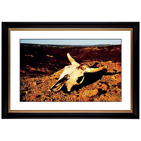 "Desert Skull Giclee 41 3/8"" Wide Wall Art"