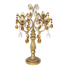 "French Taper 19 1/2"" High Droplets Candelabra"