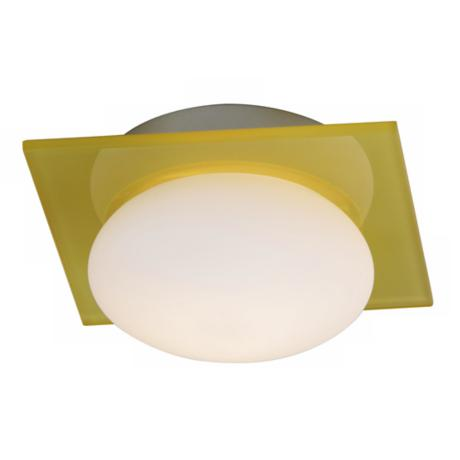 "Button Collection 6"" Wide Yellow White Ceiling Light Fixture"