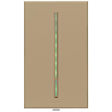 Lutron Vierti 600 Watt Green LED Multilocation Taupe Dimmer