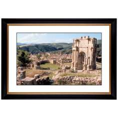 "Stonework Abbey Giclee 41 3/8"" Wide Wall Art"