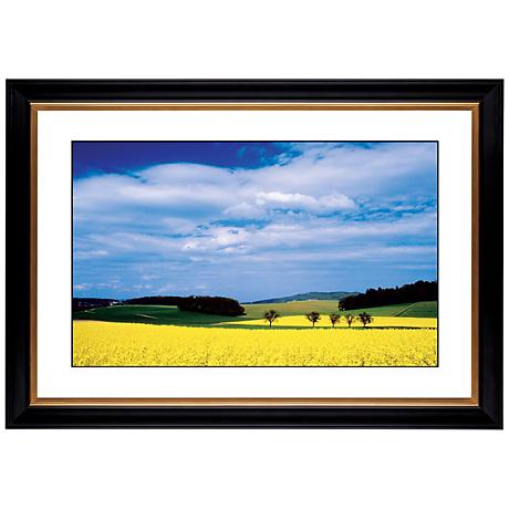 "Mustard Flowers Giclee 41 3/8"" Wide Wall Art"