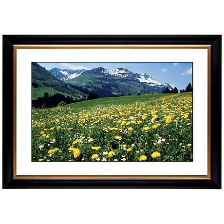 "Mountain Flower Meadow Giclee 41 3/8"" Wide Wall Art"
