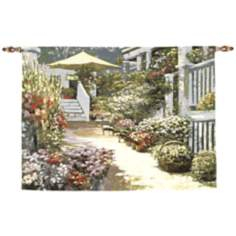 "Nantucket Flower Market 70"" Wide Wall Art Tapestry"