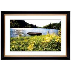 "Lake Fishing Boat Giclee 41 3/8"" Wide Wall Art"