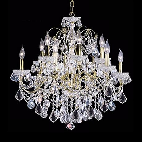 "James R. Moder Belle Wave 28"" Wide Crystal Chandelier"