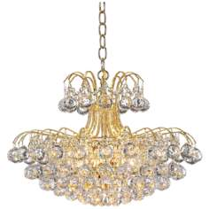 James R. Moder Mardella Twelve Light Crystal Chandelier