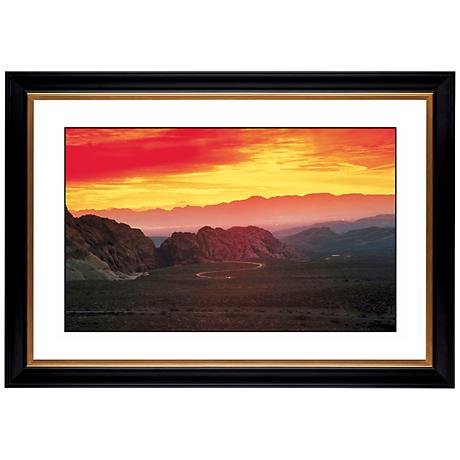 "Desert Mesa Sunrise Giclee 41 3/8"" Wide Wall Art"