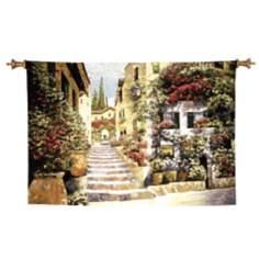 "Riviera Stairs Wall Art 70"" Wide Tapestry"