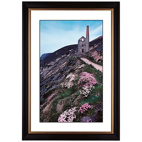 "Cliffside Ruins Giclee 41 3/8"" High Wall Art"